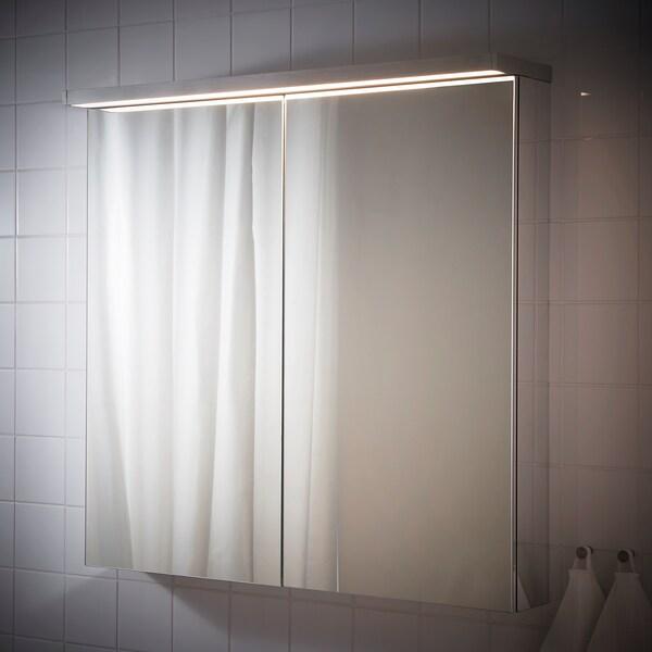 GODMORGON LED iluminación p/arm pared, color de aluminio, 100 cm