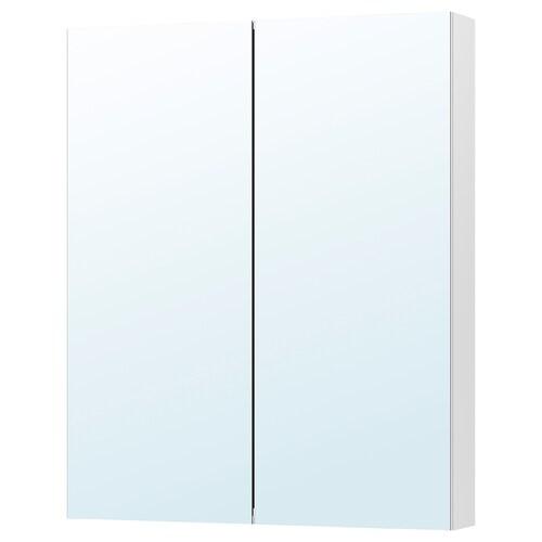 GODMORGON armario &espejo, 2 puertas 80 cm 14 cm 96 cm