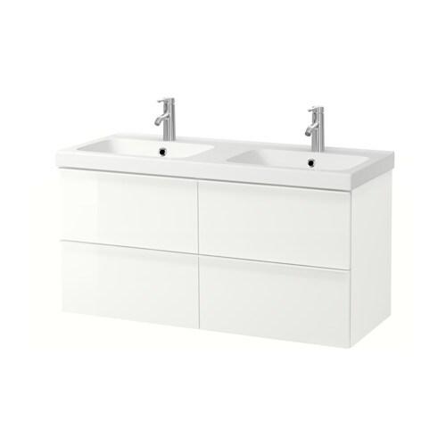 Godmorgon odensvik armario lavabo 4cajones alto brillo - Armario lavabo ikea ...
