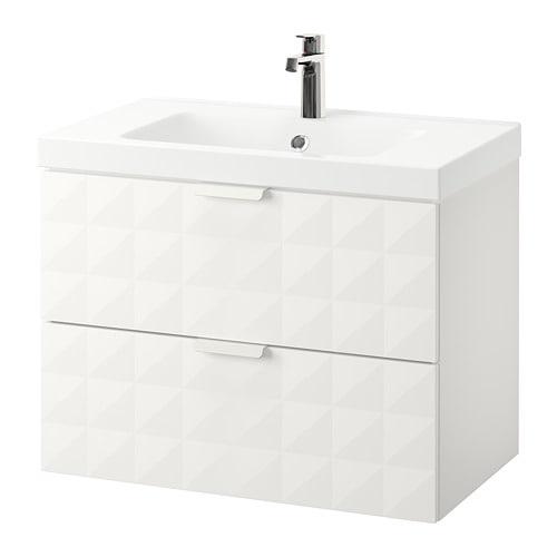 Godmorgon odensvik armario lavabo 2 cajones resj n blanco ikea - Armario lavabo ikea ...