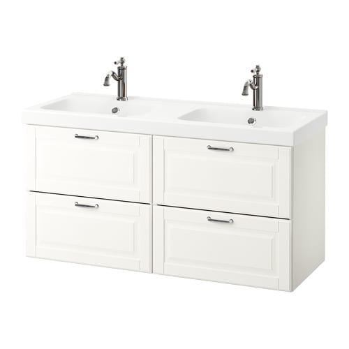 Godmorgon odensvik armario lavabo 4cajones kasj n blanco ikea - Armario lavabo ikea ...
