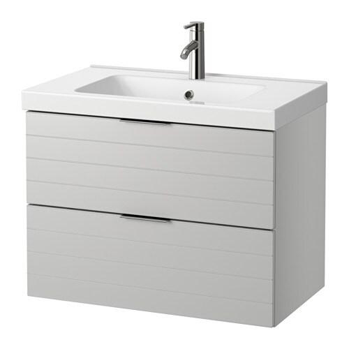 Godmorgon odensvik armario lavabo 2 cajones gris claro ikea - Armario lavabo ikea ...