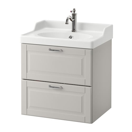 Godmorgon r ttviken armario lavabo 2 cajones kasj n gris claro ikea - Armario lavabo ikea ...