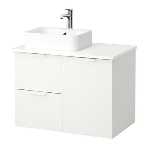 Godmorgon tolken h rvik armario lavabo 45x32 blanco blanco ikea - Armario lavabo ikea ...