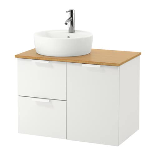 Godmorgon tolken t rnviken armario lavabo 45 bamb blanco ikea - Armario lavabo ikea ...
