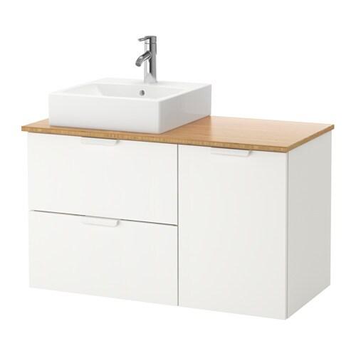 Aparador Nordico Roble ~ GODMORGON TOLKEN TÖRNVIKEN Armario lavabo 45×45 bambú, 102x49x72 cm IKEA
