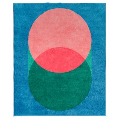 GRACIÖS Alfombra, rosa/azul, 133x160 cm