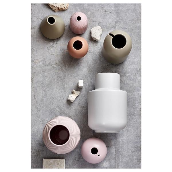 GRADVIS Florero / jarrón, rosa, 21 cm