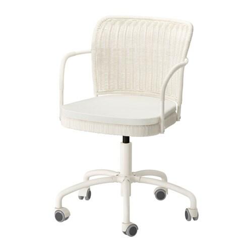 Gregor silla giratoria blanco vittaryd beige claro ikea - Sillas blancas ikea ...