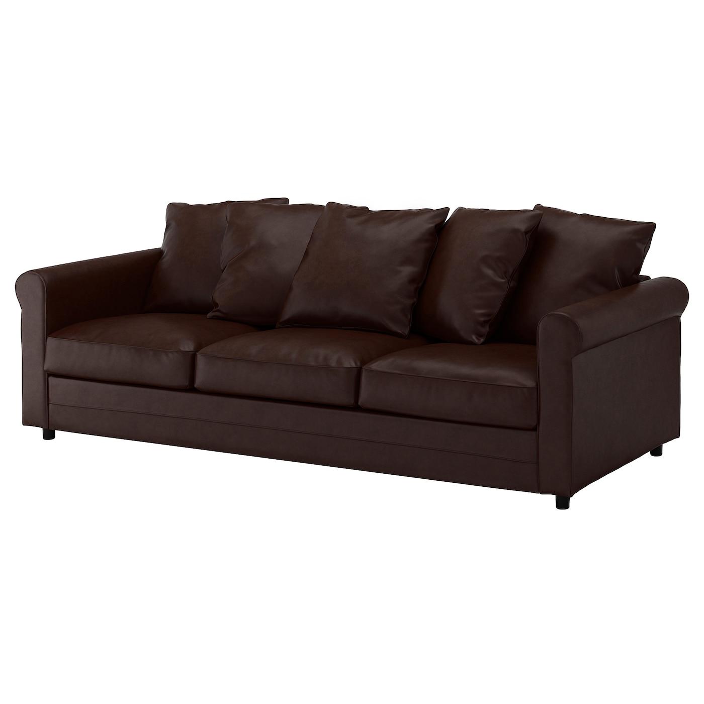 GRÖNLID Sofá 3 plazas, Kimstad marrón oscuro - IKEA