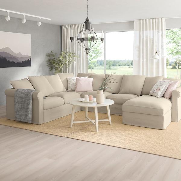 GRÖNLID sofá 5 plazas esquina +chaiselongue/Sporda natural 104 cm 164 cm 98 cm 126 cm 252 cm 333 cm 7 cm 18 cm 68 cm 60 cm 49 cm
