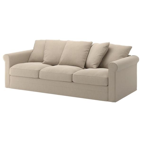 GRÖNLID Sofá 3 plazas, Sporda natural IKEA