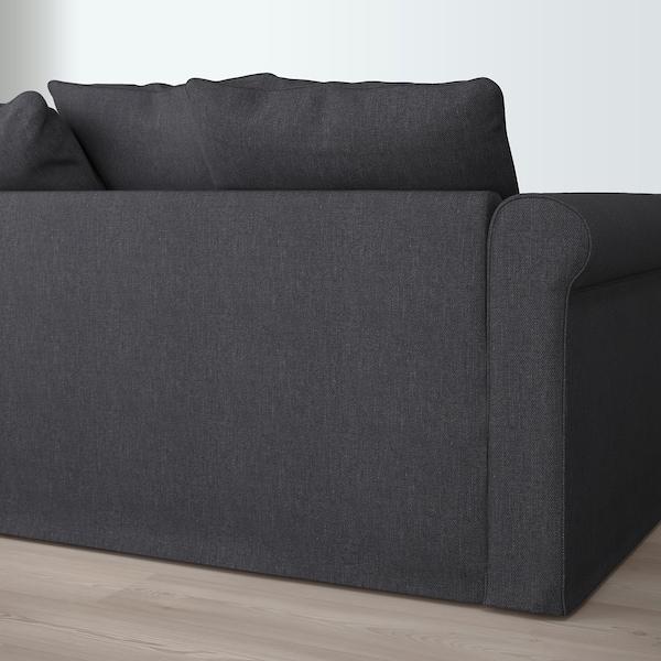 GRÖNLID Sofá 4 plazas, con chaiselongues/Sporda gris oscuro