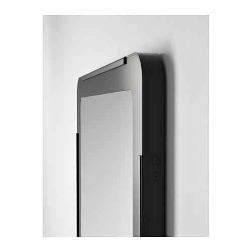 Grua espejo ikea for Miroir noir ikea