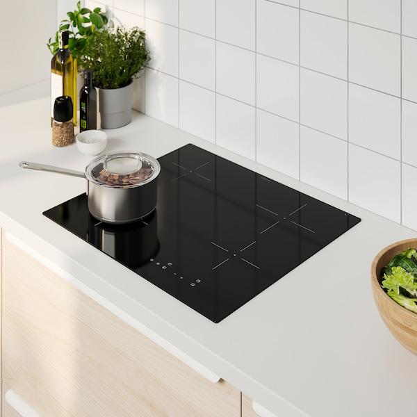 GRUNDAD Placa de inducción, IKEA 300 negro, 59 cm