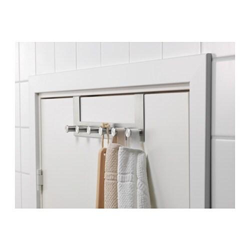 GRUNDTAL - Perchero para puerta, acero inox - Artículo en función / detalle