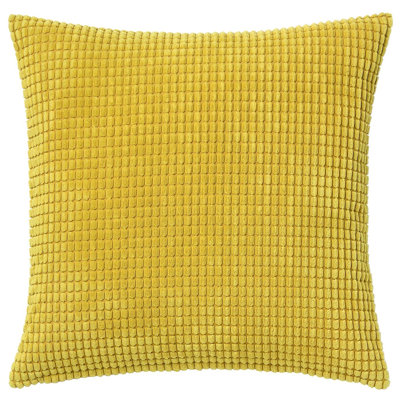 GULLKLOCKA Funda de cojín amarillo 50x50 cm