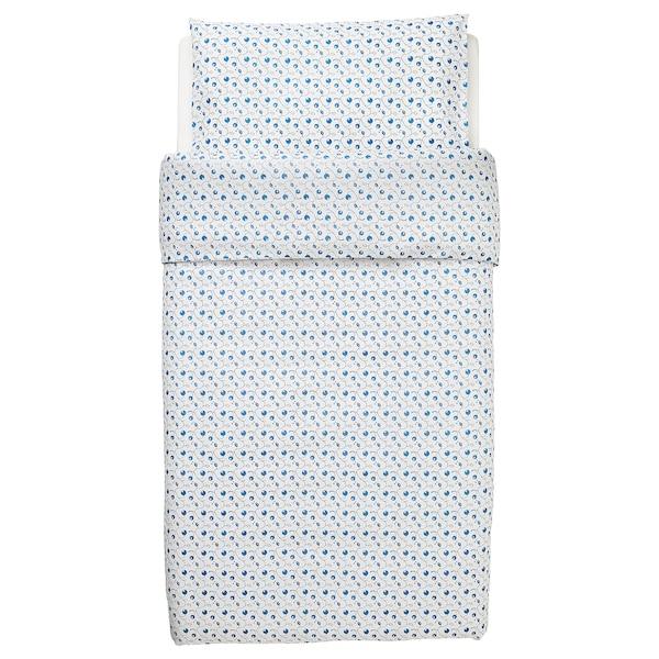 GULSPARV Funda nórdica +funda almohada cuna, motivo arándanos, 110x125/35x55 cm
