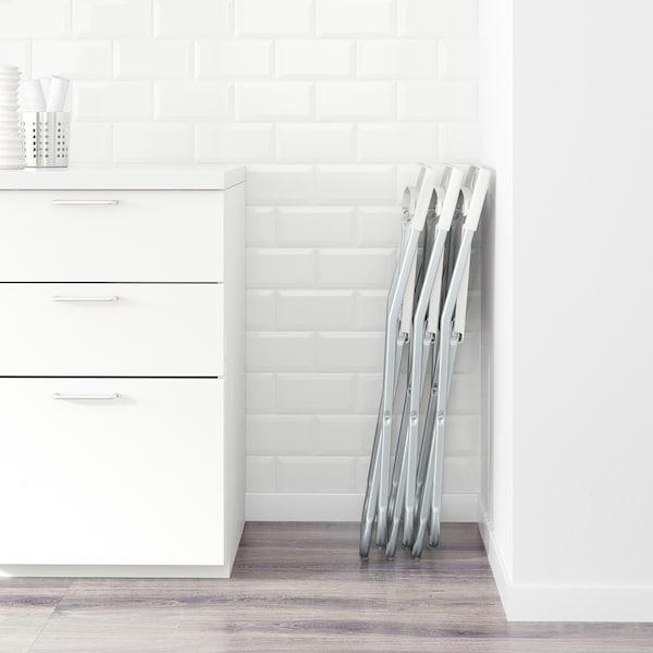 GUNDE Silla plegable, blanco