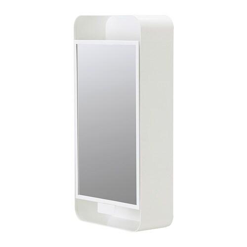 Gunnern armario con espejo 1 puerta blanco ikea - Espejo blanco ikea ...