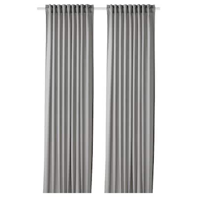 GUNNLAUG Cortina absorción sonido, gris, 145x300 cm
