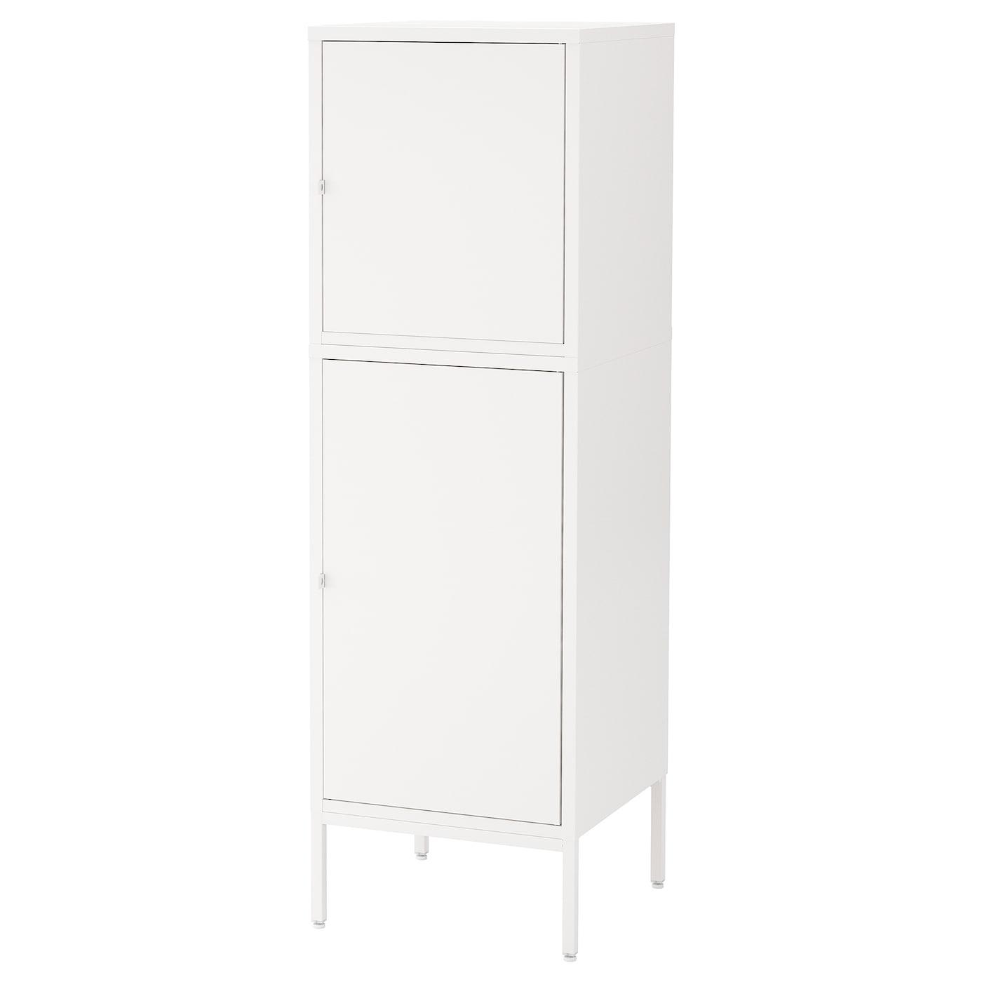H llan mueble de sal n con almacenaje blanco 45 x 47 x 142 for Muebles almacenaje ikea