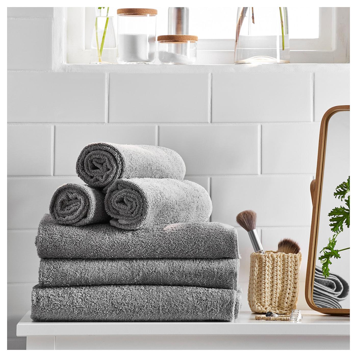 H ren toalla de ba o gris 100 x 150 cm ikea - Toallas de bano ikea ...