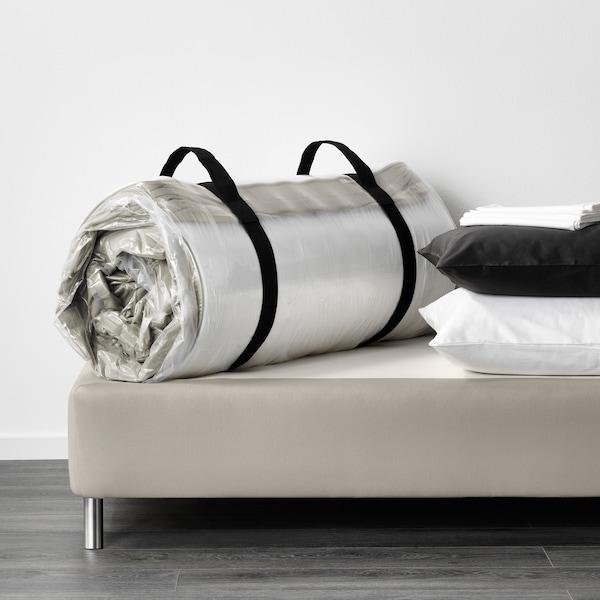 HAFSLO Colchón de muelles, extra firme/beige, 90x200 cm