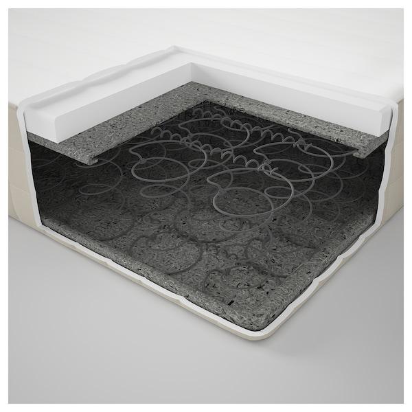 HAFSLO Colchón de muelles, firme/beige, 90x200 cm