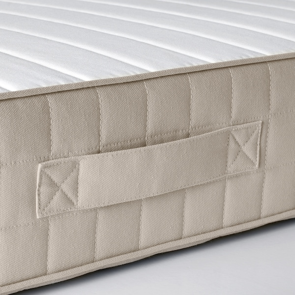 HAFSLO Colchón de muelles, firme/beige, 135x190 cm