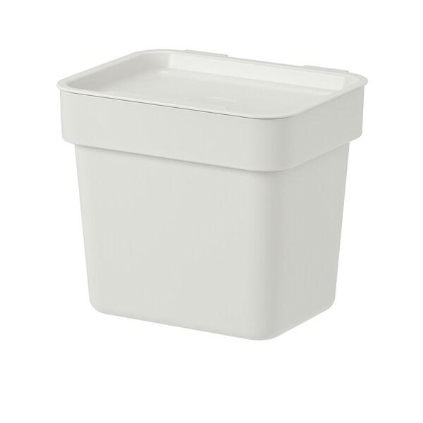 HÅLLBAR cubo con tapa gris claro 11.7 cm 16.6 cm 16.2 cm 20.0 cm 17.1 cm 3 l