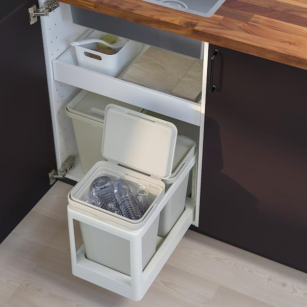 HÅLLBAR Cubo con tapa, gris claro, 10 l