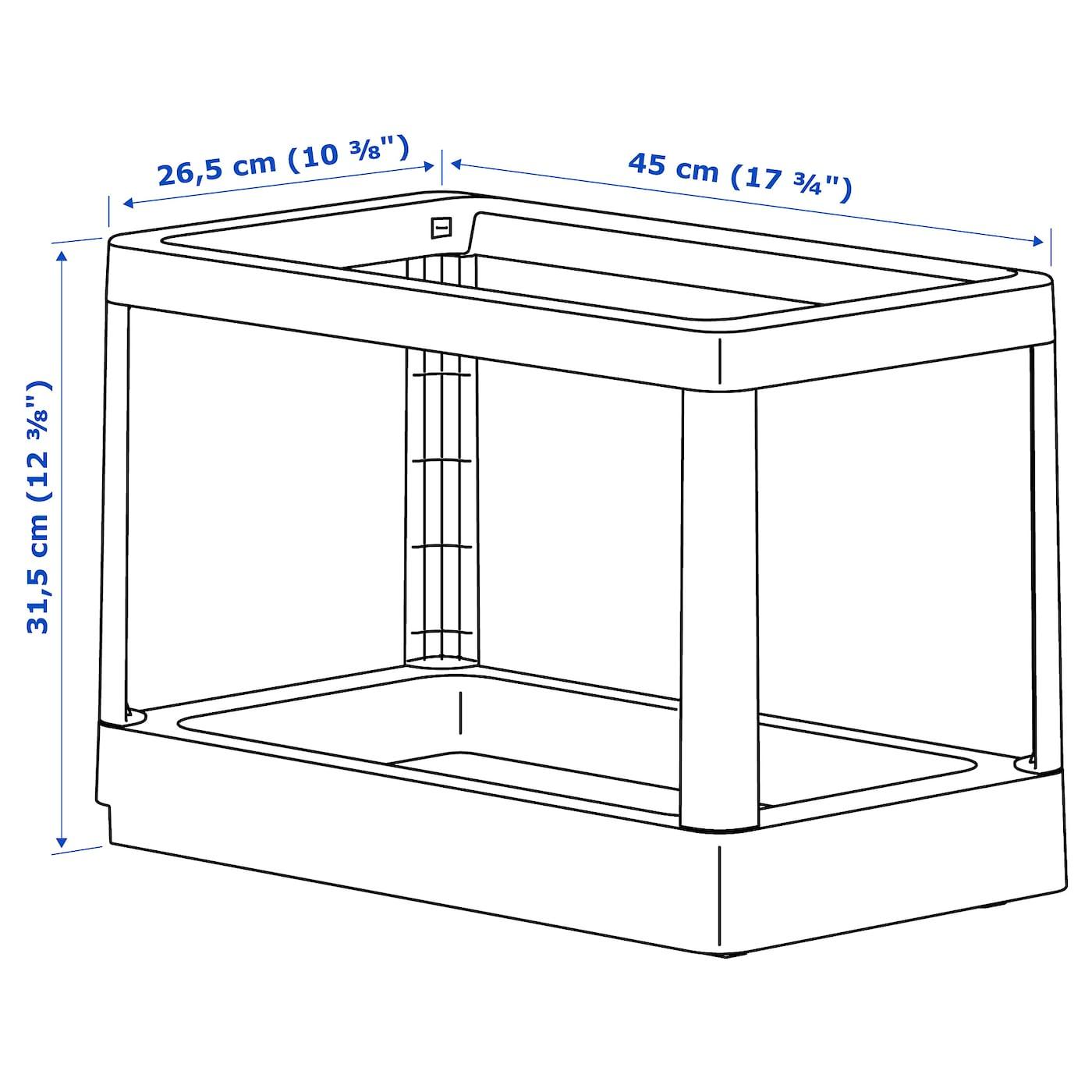 HÅLLBAR Estructura extraíble residuos gris claro