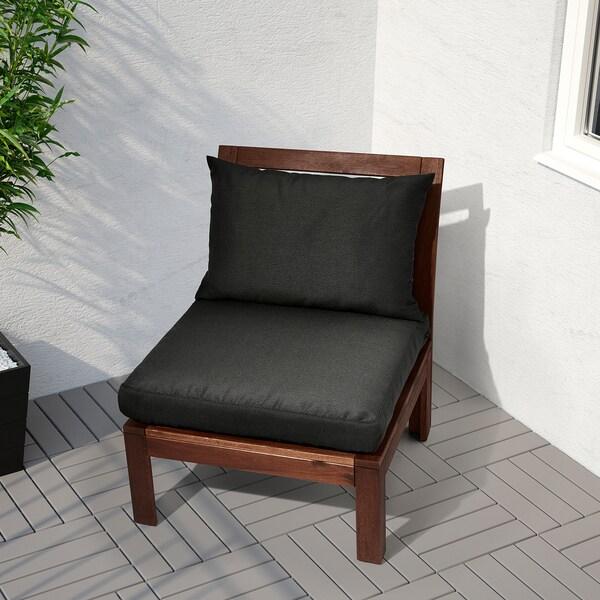HÅLLÖ Cojín respaldo ext, negro, 62x42 cm