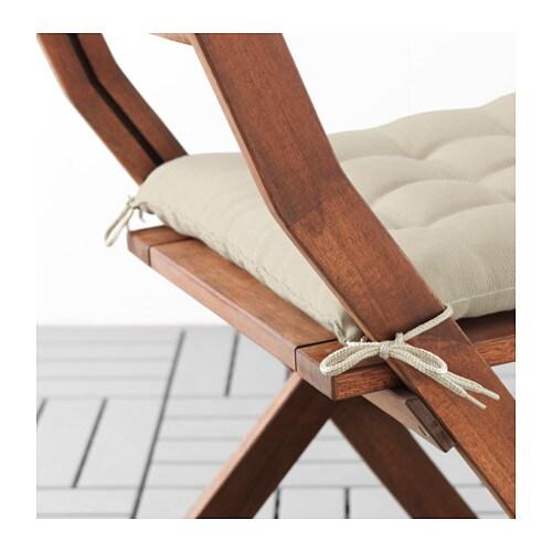 HÅLLÖ - Cojín silla exterior, 40x40 cm, beige - Artículo en función / detalle