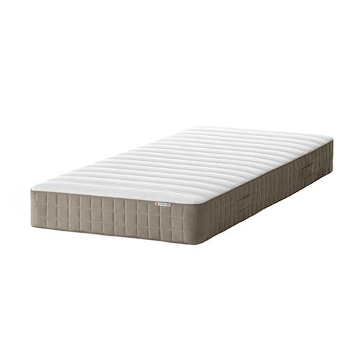 HAMARVIK colchón de muelles extra firme/beige oscuro 200 cm 90 cm 21 cm