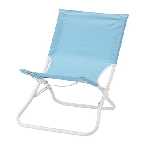 h m silla de playa plegable azul claro ikea