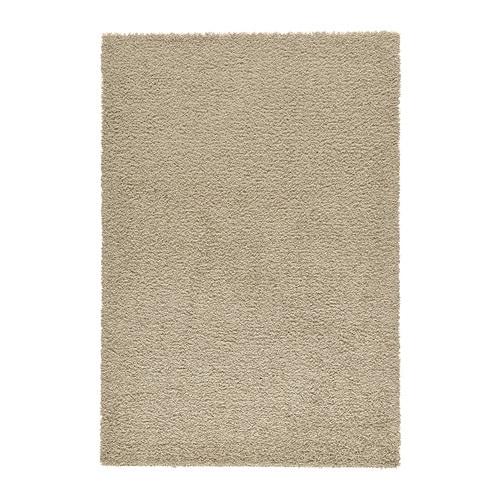 HAMPEN Alfombra, 133x195 cm, pelo largo, beige