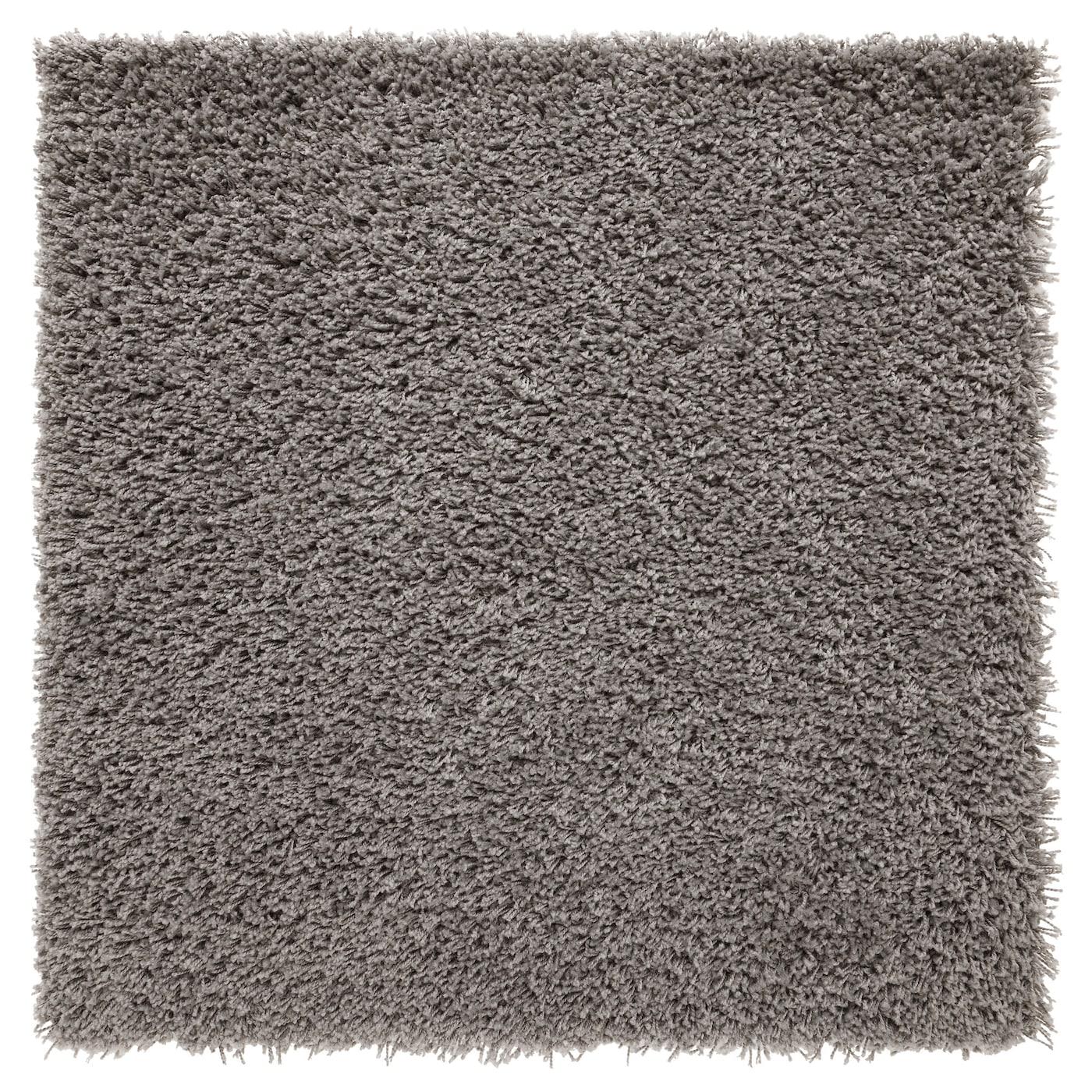 Hampen alfombra pelo largo gris 80 x 80 cm ikea - Alfombra gris ikea ...