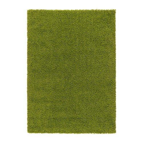 Hampen alfombra pelo largo 133x195 cm ikea - Alfombra verde ikea ...