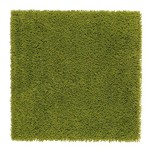 Hampen alfombra pelo largo ikea for Alfombra verde ikea