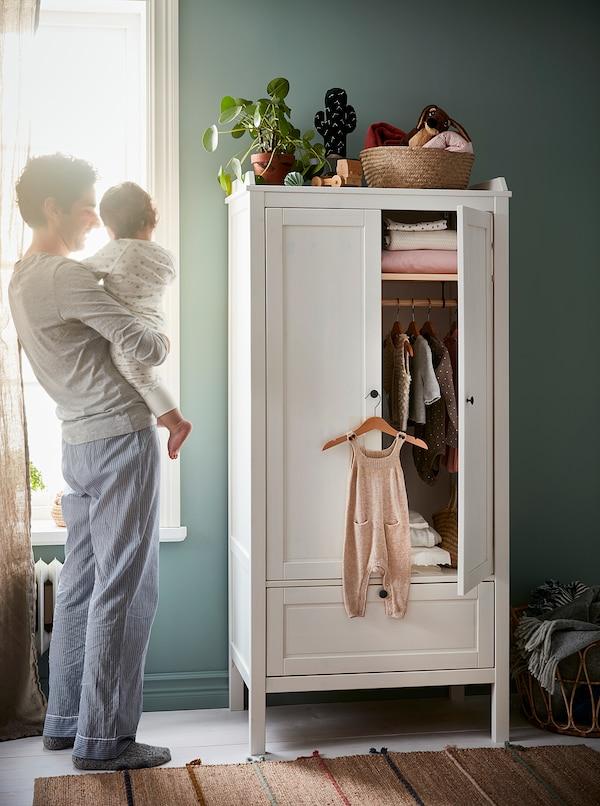 HÄNGA Percha para niños y niñas, natural