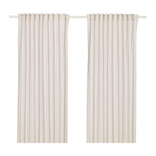 Hannalill cortina 1par beige 145 x 300 cm ikea - Cultivo interior ikea ...