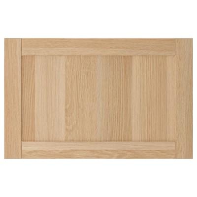 HANVIKEN Puerta/frente de cajón, efecto roble tinte blanco, 60x38 cm