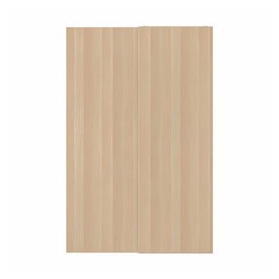 HASVIK Puertas correderas, 2 uds, efecto roble tinte blanco, 150x236 cm
