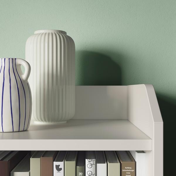 HAUGA Mueble almacenaje/TV, blanco, 277x46x199 cm