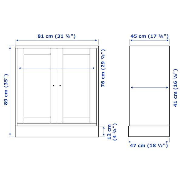HAVSTA Armario con zócalo, blanco, 81x47x89 cm