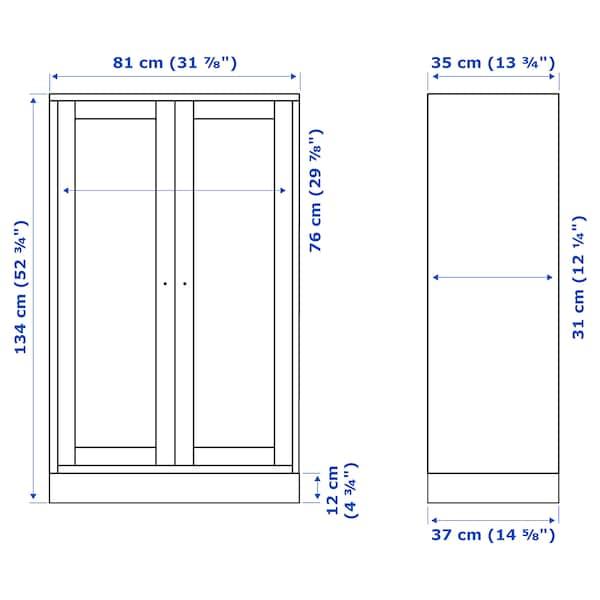 HAVSTA Armario con zócalo, blanco, 81x37x134 cm