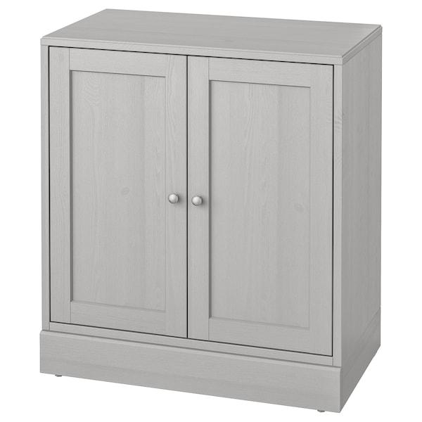 HAVSTA Armario con zócalo, gris, 81x47x89 cm