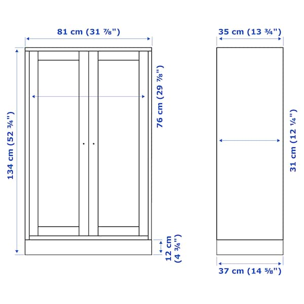 HAVSTA Armario con zócalo, gris, 81x37x134 cm